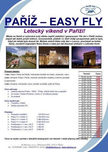 PAŘÍŽ – EASY FLY - SLAN tour