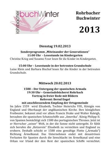 2013 - bei der Ortsgemeinde Rohrbach