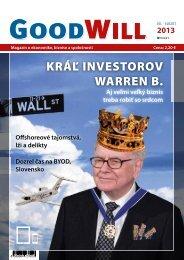 KRÁĽ INVESTOROV WARREN B. - GoodWill - Eu.sk