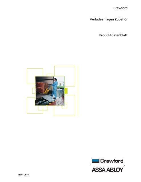 Crawford Verladeanlagen Zubehör Produktdatenblatt