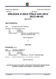 Smlouva o dílo - Kobylnice
