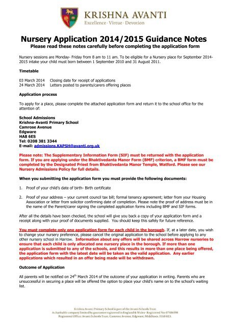 2015 application forms