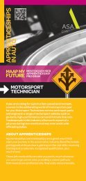 Motorsport Technician - MAAP My Future