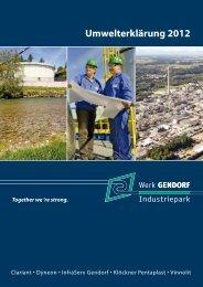 Umwelterklärung 2012 - InfraServ GmbH & Co. Gendorf KG ...