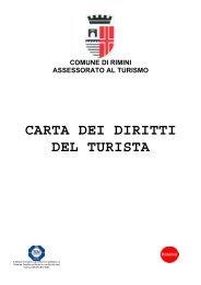 Carta dei Diritti del Turista - Rimini Turismo