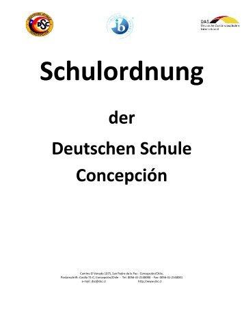 Schulordnung der Deutschen Schule Concepción