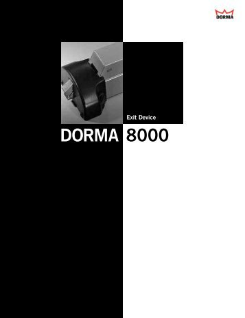 DORMA 8000 - Access Hardware Supply