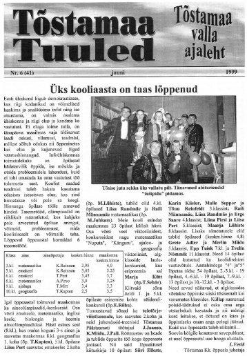 Üks kooliaasta on taas lõppenud - Tõstamaa