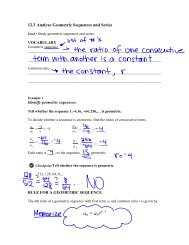 12.3 Analyze Geometric Sequences and Series