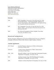 Laura Kathryn Siebeneck - College of Public Affairs & Community ...