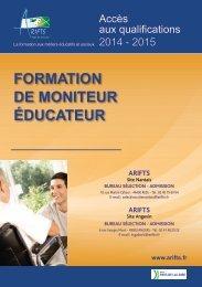 FORMATION DE MONITEUR ÉDUCATEUR - Arifts