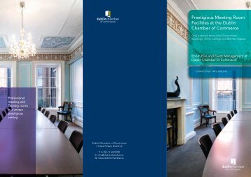 View our Room Hire Brochure - Dublin Chamber of Commerce