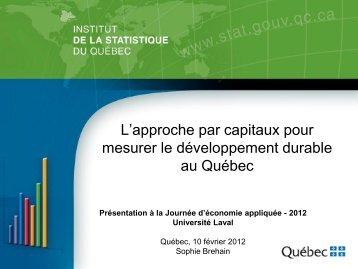 L'approche par capitaux - Association des économistes québécois