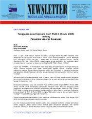 Tanggapan Atas Exposure Draft PSAK 1 (Revisi 2009) tentang ...