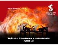 Corporate Presentation - June 2011 - ShaMaran Petroleum Corp ...