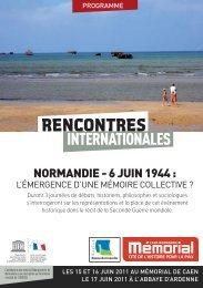 Consulter le programme au format pdf - CRHQ - CNRS