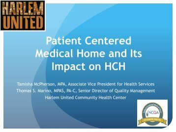 Patient Centered Medical Home and Its Impact on HCH