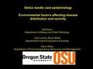 Swiss needle cast epidemiology Environmental factors affecting ...