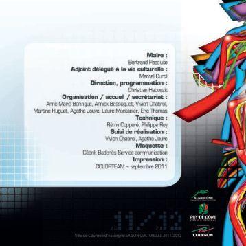 MP saison culturelle 2011/2012 - Cezam Auvergne