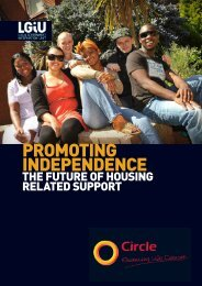 Promoting Independence the future of housing related support - LGiU