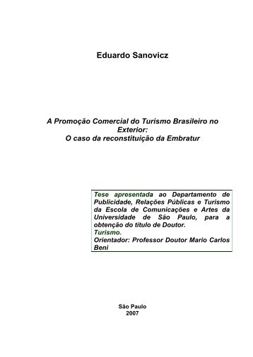 A Promoção Comercial do Turismo Brasileiro no ... - Dados e Fatos