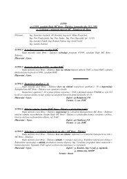 ZÁPIS ze 4/1999. zasedání Rady MČ Brno - Židenice, konaného ...