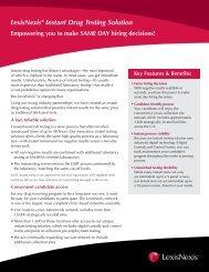 LexisNexis® Instant Drug Testing Solution - Risk Solutions