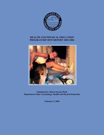 Program Report - Instructional Research