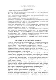 AMA Gara Revisione Legale Conti Capitolato Tecnico
