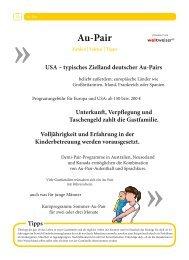 Rubrik Au-Pair - Stubenhocker - Die Zeitung für Auslandsaufenthalte