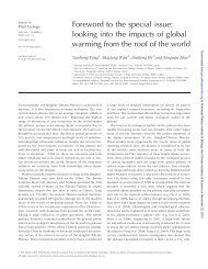 Foreword to the special issue: looking into the impacts of global ...