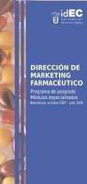dirección de marketing farmacéutico - IDEC - Universitat Pompeu ...