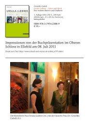 Impressionen von der Buchpräsentation im Oberen Schloss in ...