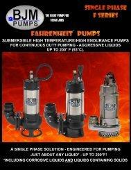 JF-Single Phase Series - BJM Pumps