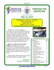 May 21, 2013 - Grapevine Garden Club