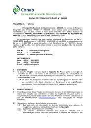 EDITAL DE PREGÃO ELETRÔNICO N - Conab