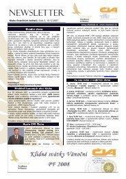 Klubu finančních ředitelů, číslo 3, 10.12.2007 - CFO Club