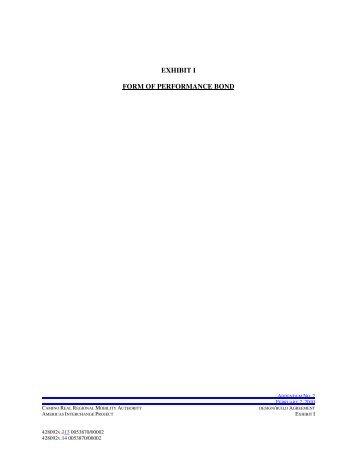EXHIBIT K FORM OF WARRANTY BOND - CRRMA