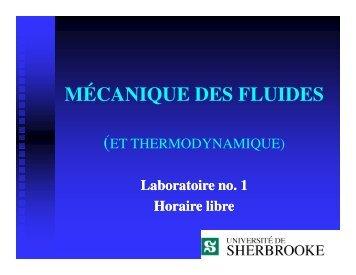 MÉCANIQUE DES FLUIDES - Civil.usherbrooke.ca