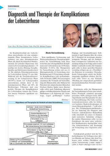 diagnostik und therapie der borderline leberzirrhose 580 | diagnostik und therapie der komplikationen der leberzirrhose