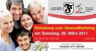 Einladung zum Gesundheitstag am Samstag, 26. März 2011