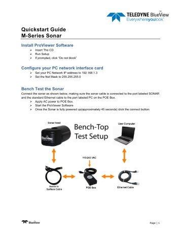 M Series Quick Start Guide - BlueView Technologies, Inc.