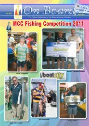 MCC Fishing Competition 2011 - Mana Cruising Club
