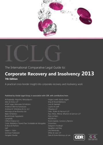 Corporate Recovery and Insolvency 2013