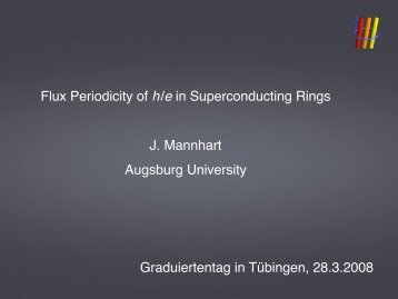 Flux Periodicity of h/e in Superconducting Rings J. Mannhart ...