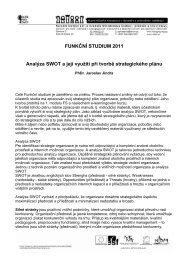 FUNKČNÍ STUDIUM 2011 Analýza SWOT a její využití při ... - NIDM
