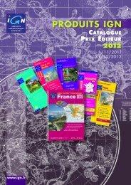 IGN_catalogue prix editeur_2012.pdf - Espace revendeurs