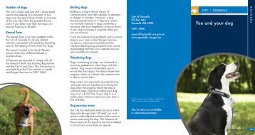 You and your dog - City of Gosnells
