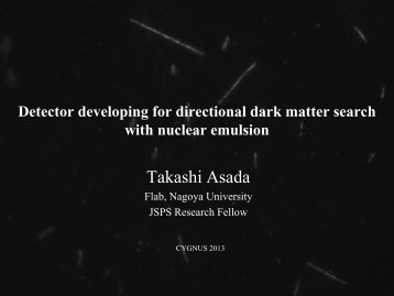 Detector developing for directional dark matter search with nuclear ...