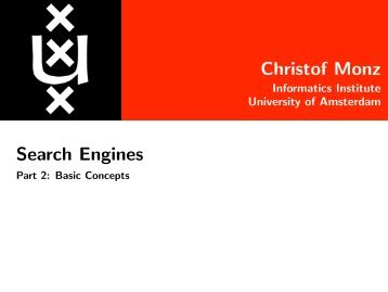 Christof Monz Search Engines